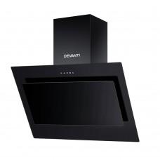 Devanti Rangehood 900mm Black Angled Side Draft Range Hood Canopy Glass 90cm