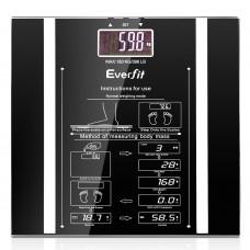 Electronic Digital Body Fat & Hydration Bathroom Glass Scale Black