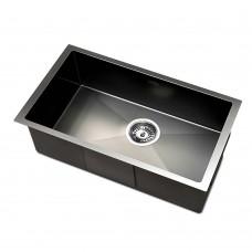 Kitchen Sink With Waste Strainer Black - 30 X 45cm