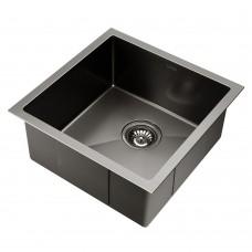 Kitchen Sink With Waste Strainer Black - 44 X 44cm