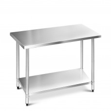304 Stainless Steel Kitchen Work Bench Table 1219mm