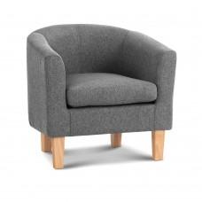 Artiss Abby Farbic Armchair - Grey