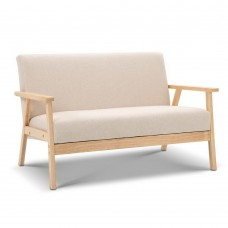 2-seater Fabric Sofa Couch Beige