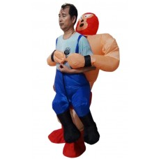 Wrestler Fancy Dress Inflatable Suit -fan Operated Costume