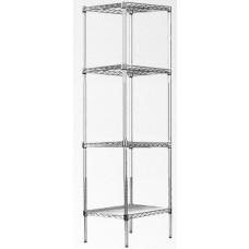 Modular Chrome Wire Storage Shelf 350 X 350 X 1800 Steel Shelving