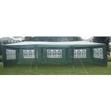 3x9m Wedding Outdoor Gazebo Marquee Tent Canopy Green
