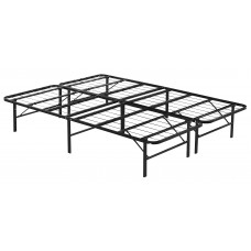 Queen Folding Metal Bed Frame Storage Platform Mattress Base