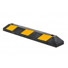 90cm Heavy Duty Rubber Curb Parking Guide Wheel Driveway Stopper Reflective Yellow