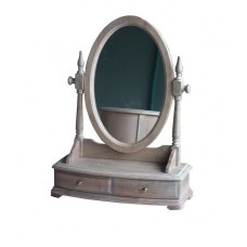 Wash White Dressing Unit With Mirror