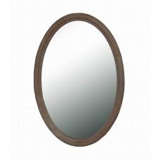 Wash White Oval Mirror