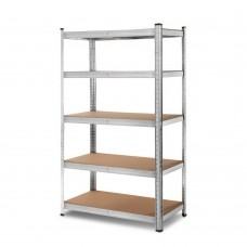 Giantz 0.9m 5-shelves Steel Warehouse Shelving Racking Garage Storage Rack Silver
