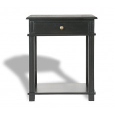 French Provincial Bedside Table - Villa Black front