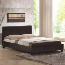 Mondeo Pu Leather Double Brown Bed