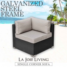 La Joie Outdoor Living Single Corner Modular Sofa Rattan Furniture Lounge