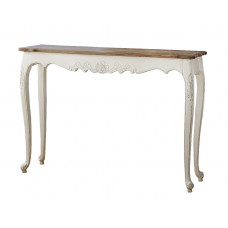 French Provincial Console Hall Table in White