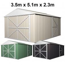 Garage Shed Workshop 3.5m x 5.1m x 2.3m