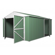 Garage Shed Workshop 3.5m x 5.1m x 2.3m green