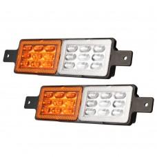 2x Sealed Led Bullbar Indicators & Parking Lights Lamp Submersible 4x4 4wd 12v