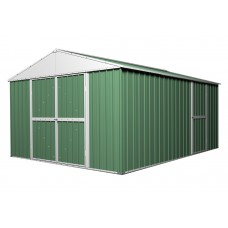 Garden Shed 3.6m x 4.3m x 2.3m Workshop Rivergum Green CLEARANCE