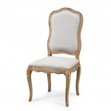 French Provincial Furniture Side Dining Chair in Natural Oak