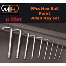 9pcs Long Arm Allen Keys Set Metric Ball End Driver Hex Allan Allen Kit
