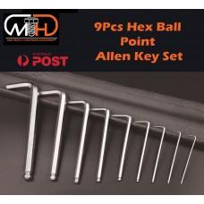 9pcs Long Arm Allen Keys Set Metric Ball End Driver Hex Allan Allen Kit