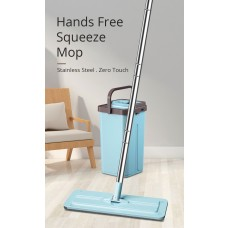Ultra Clean Hands-Free Self-Wash Cleaning Squeeze Dry Flat Mop Bucket Set