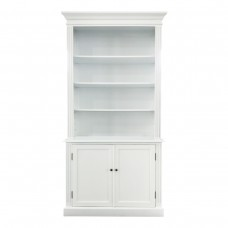 French Provincial Hamptons Buffet and Hutch Library Bookcase Cabinet