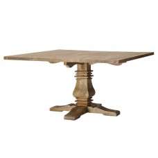 French Provincial Chateau Pedestal Square Dining Table