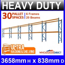 ULTRA Pallet Racking 30 Space Package features