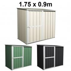 Garden Shed 1.75m x 0.9m Colour Range