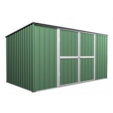 Garden Shed 3.5m x 1.7m x 1.9m Flat Roof Rivergum 3