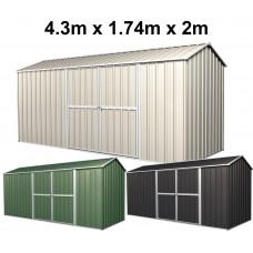 Garden Shed 4.3m x 1.74m x 2m