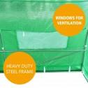 Greenhouse EcoFresh Walk in Greenhouses 4.5m x 3m x 2m windows