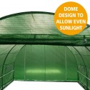 Greenhouse EcoFresh Walk in Greenhouses 4.5m x 3m x 2m dome
