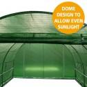 Greenhouse EcoFresh Walk in Greenhouses 4.5m x 3m x 2m dome