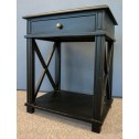 French Provincial Bedside Table - Villa Black actuall