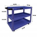 Ultra Tools Mechanic Workshop Trolley Steel 3 Tier 150kg BLUE