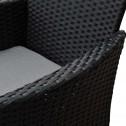 Malibu 9 Piece 8 Seater Outdoor Dining Set Furniture Rattan Steel Frame