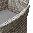 Malibu 9 Piece 8 Seater Outdoor Dining Set Furniture Rattan Steel Frame