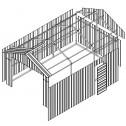 Double Barn Door Garage Shed 3.4m x 6m x 3m Drawings