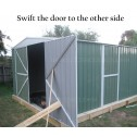 Double Barn Door Garage Shed 3.5m x 6m x 2.3m swift door