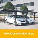 Aluminium carport 3x5m parked car 2