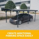 Aluminium carport 3x5m parked car 1