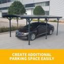 Aluminium carport 3x5m parked car 1