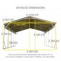 Carport 3.6 x 7.6m x 3.51m dimensions1