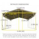Carport 3.6 x 9.1m x 3.51m dimensions1