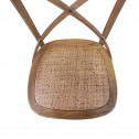 Hamptons Cross Back Dining Chair Birch American Oak Rattan Seat