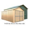 Double Barn Door Garage Shed 3.4m x 6m x 3m swift door