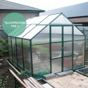 EcoPro Greenhouse 16x8 installed 45 degree